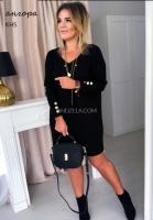 Туника платье Size Plus ангора софт черное KH