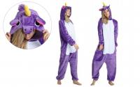 Кигуруми для взрослых пижамка Единорог фиолет