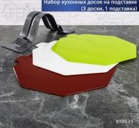 Набор разделочных досок на подставке 022 IBR
