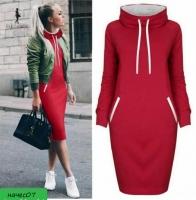 Спортивное платье утепленное красное RH KH110 RH06