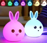 Ночник-лампа Nifty Bunny silicone lamp новая цена