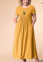 Платье длинное SIZE PLUS лайт yellow RH122