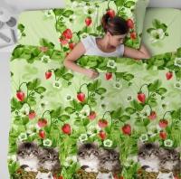Постельное белье 100% хлопок ГОСТ КОТЯТА ЕВРО спальный