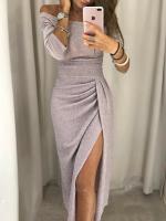 Платье миди люрекс светло-розовое X118