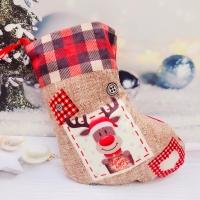 Новогодний носок для подарка 20 см LN336