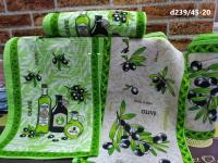 Вафельное полотенце Оливка 35х55