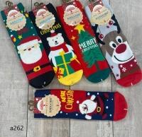 Высокие новогодние носки 9272
