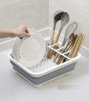 Складная силиконовая сушилка для посуды 03 IBR